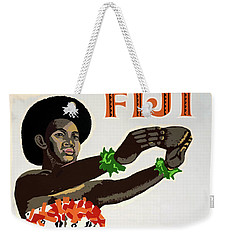 Fiji Restored Vintage Travel Poster Weekender Tote Bag