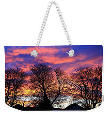 Weekender Tote Bag featuring the painting Filigree Sunset by Nareeta Martin