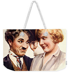 Film Fun Classic Comedy Magazine Featuring Charlie Chaplin And Girl 1916 Weekender Tote Bag