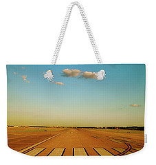 Weekender Tote Bag featuring the photograph Final Approach by Iconic Images Art Gallery David Pucciarelli