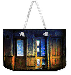 Weekender Tote Bag featuring the digital art Final Days - Choices by Stuart Turnbull