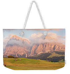 Final Light Hits The Langkofel And Sassoungo Weekender Tote Bag