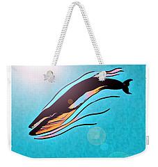Finback Diving Through Krill Weekender Tote Bag