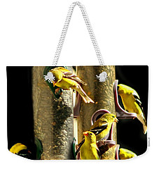 Finch Feeding Frenzie Weekender Tote Bag