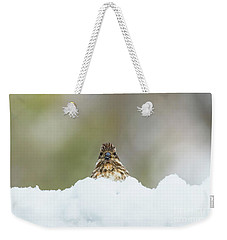 Female Purple Finch Weekender Tote Bag