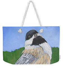 Weekender Tote Bag featuring the painting Finch by Patricia Cleasby