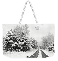 Weekender Tote Bag featuring the photograph Find A Pretty Road by Lori Deiter