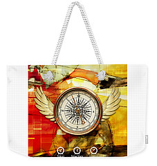 Weekender Tote Bag featuring the mixed media Finding Direction by Marvin Blaine