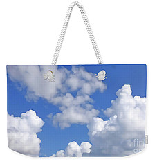 Weekender Tote Bag featuring the digital art Finding Focus Sky by Francesca Mackenney
