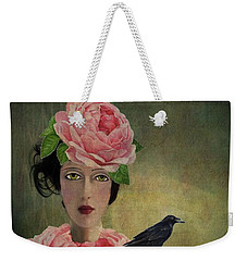 Weekender Tote Bag featuring the digital art Finding Her Way by Lisa Noneman