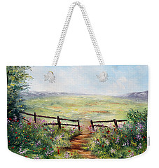 Finding Pasture Weekender Tote Bag