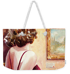 Fine Art Gallery Opening Night Weekender Tote Bag