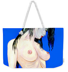 Weekender Tote Bag featuring the painting Fine Art Nude by Tbone Oliver