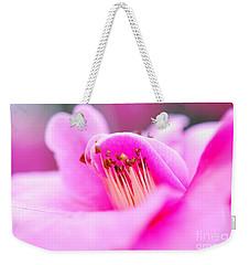 Fine Art- Pink Camellia Weekender Tote Bag