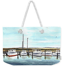 Fine Art Workboats Kent Island Chesapeak Maryland Original Oil Painting Weekender Tote Bag