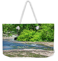 Weekender Tote Bag featuring the photograph Fine Creek No. 3 by Laura DAddona