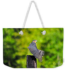 Weekender Tote Bag featuring the photograph Fine Feathers by Al Powell Photography USA
