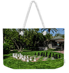 Weekender Tote Bag featuring the photograph Fine Wine Cafe Chess At The Biltmore by Aimee L Maher Photography and Art Visit ALMGallerydotcom