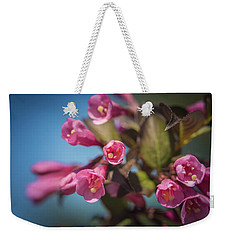 Weekender Tote Bag featuring the photograph Fine Wine Weigela by William Lee