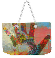 Finger Paint Weekender Tote Bag by Kelly Awad