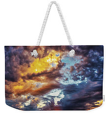 Weekender Tote Bag featuring the photograph Finger Painted Sunset by Rick Furmanek