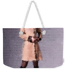 Weekender Tote Bag featuring the digital art Fiona by Nancy Levan