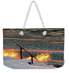 Fire And Ice Weekender Tote Bag