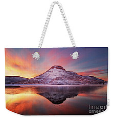 Fire And Ice - Flatiron Reservoir, Loveland Colorado Weekender Tote Bag by Ronda Kimbrow