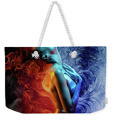 Fire And Ice Weekender Tote Bag by Lilia D