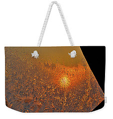 Weekender Tote Bag featuring the photograph Fire And Ice by Susan Capuano