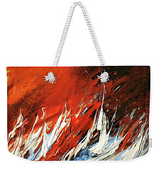 Fire And Lava Weekender Tote Bag