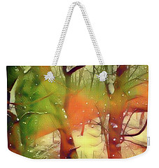 Fire And Snow Weekender Tote Bag by Gayle Price Thomas