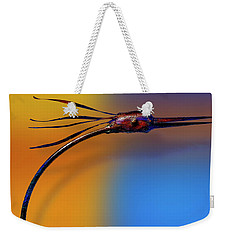 Weekender Tote Bag featuring the photograph Fire Bird by Paul Wear