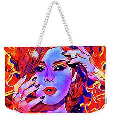 Fire Demon Woman Abstract Fantasy Dark Goth Art Weekender Tote Bag