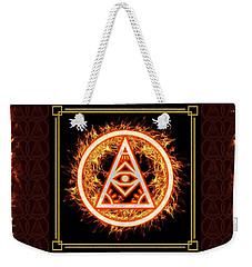 Weekender Tote Bag featuring the digital art Fire Emblem Sigil by Shawn Dall