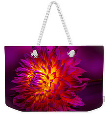 Fire Flower Weekender Tote Bag by Bruce Pritchett