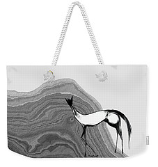 Weekender Tote Bag featuring the digital art Fire Horse by Asok Mukhopadhyay