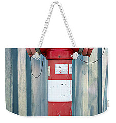 Fire Hydrant Steel Wall Weekender Tote Bag