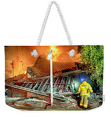 Fire In Punta Bandera Weekender Tote Bag by Hugh Smith