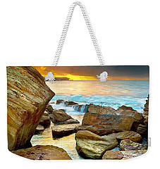 Fire In The Sky Weekender Tote Bag by Az Jackson