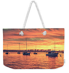Fire In The Sky Weekender Tote Bag by Joseph S Giacalone
