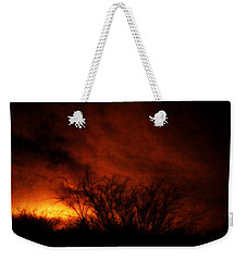 Fire In The Sky Weekender Tote Bag by Nature Macabre Photography