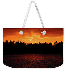 Fire In The Sky Weekender Tote Bag by Teemu Tretjakov
