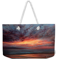 Fire In The Sky Weekender Tote Bag by Valerie Travers