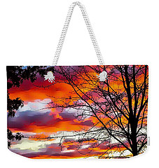 Fire Inthe Sky Weekender Tote Bag by MaryLee Parker