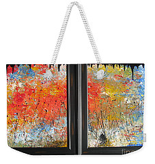 Fire On The Prairie Weekender Tote Bag by Jacqueline Athmann