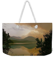 Fire Over St Mary Lake Weekender Tote Bag