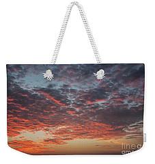 Fire Sky Weekender Tote Bag by Ana Mireles