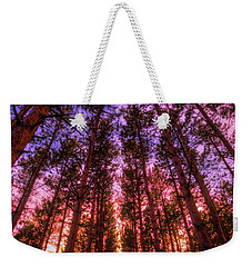 Weekender Tote Bag featuring the photograph Fire Sky - Sunset At Retzer Nature Center - Waukesha Wisconsin by Jennifer Rondinelli Reilly - Fine Art Photography