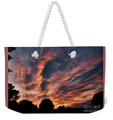 Fire Swept Sky  Weekender Tote Bag by Christy Ricafrente